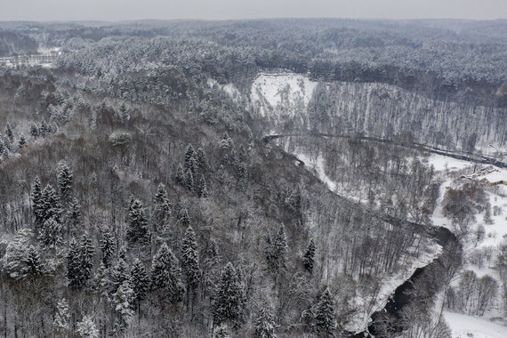 Luko Balandžio / 15min nuotr./Snieguotas ir baltas Vilnius