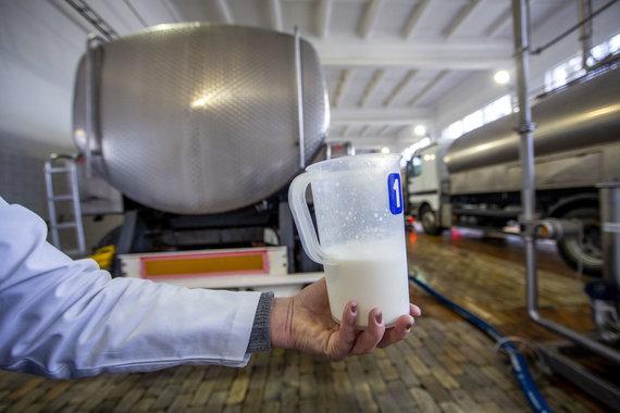 Luko Balandžio / 15min nuotr./Pieno gamyba