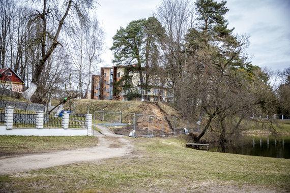 Luko Balandžio / 15min nuotr./Žvėryne, Latvių g. vykdomos statybos