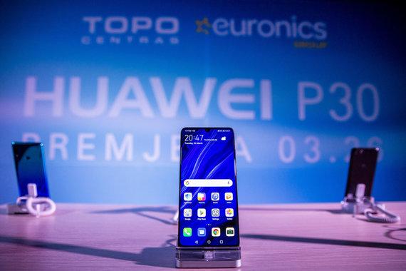 """Luko Balandžio / 15min nuotr./""""Huawei P30"""" premjera"""