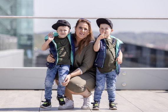 Luko Balandžio / 15min nuotr./Erika Vitulskienė su vaikais