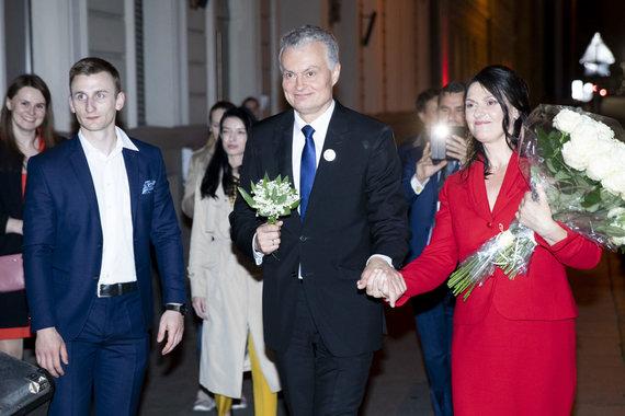 Luko Balandžio / 15min nuotr./Gitanas Nausėda su žmona Diana