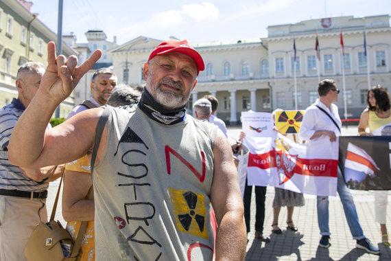 Luko Balandžio / 15min nuotr./Protestas prie prezidentūros dėl Astravo atominės elektrinės