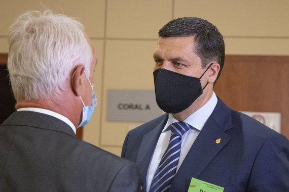 Ernestos Čičiurkaitės / 15min nuotr./Lietuvos futbolo federacijos rinkiminė konferencija