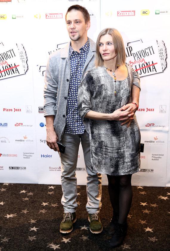 Luko Balandžio/Žmonės.lt nuotr./Donatas Ulvydas su žmona