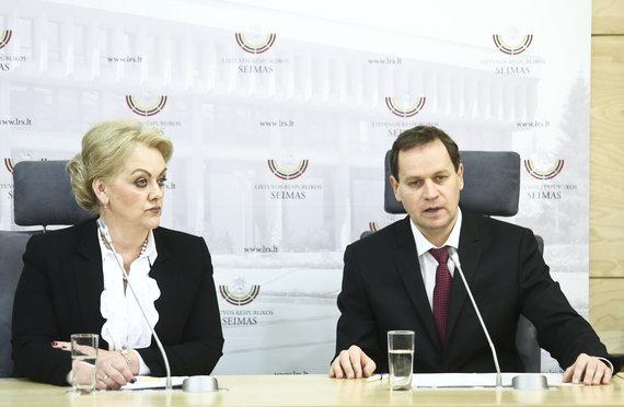 Luko Balandžio/Žmonės.lt nuotr./Irina Rozova ir Valdemaras Tomaševskis