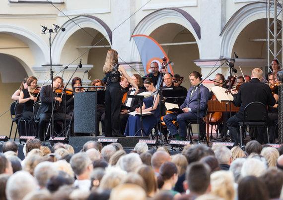 Luko Balandžio / 15min nuotr./Koncerto su Mirga Gražinytė-Tyla akimirka