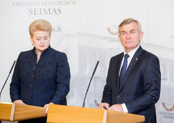Luko Balandžio / 15min nuotr./Dalia Grybauskaitė ir Viktoras Pranckietis
