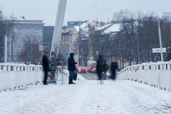 Luko Balandžio / 15min nuotr./Žiemos popietė Vilniuje