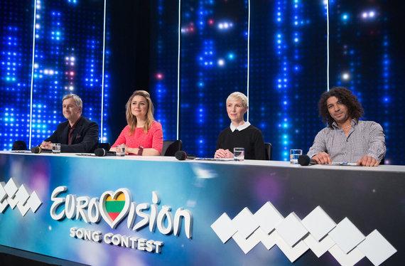 """Luko Balandžio / 15min nuotr./""""Eurovizijos"""" nacionalinės atrankos akimirka"""