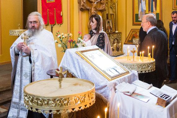 Luko Balandžio / 15min nuotr./Sofio Gelašvili-Niūniavės ir Dominyko Niūniavos dukros krikštynos