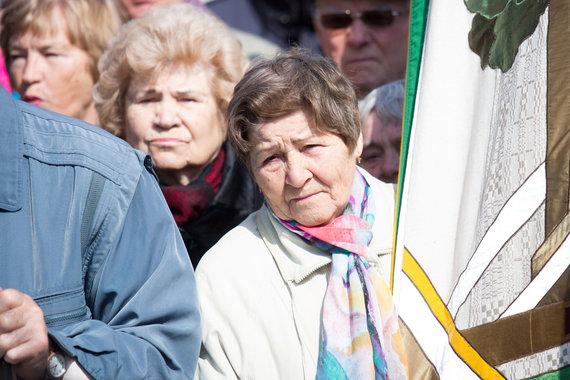 Luko Balandžio / 15min nuotr./Pensininkams atstovaujančių organizacijų mitingas