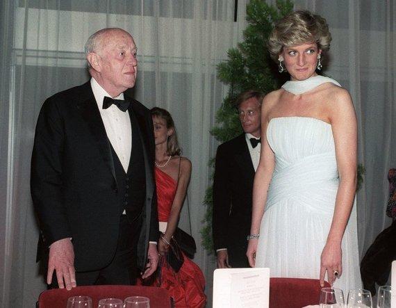 """""""Scanpix"""" nuotr./Princesė Diana ir britų aktorius Alecas Guinnessas"""