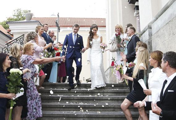 Viganto Ovadnevo/Žmonės.lt nuotr./Vestuvių ceremonijos akimirka