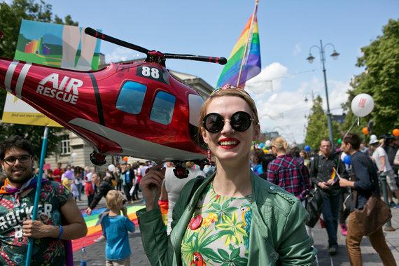 """Gretos Skaraitienės / 15min nuotr./Baltic Pride 2016 eitynės """"Už lygybę!"""""""