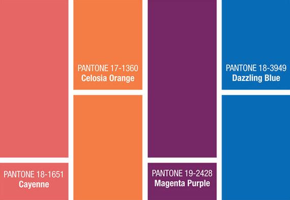 Pagrindinės naujos spalvos, kurių tikimasi 2014 metų apatinio trikotažo kolekcijose.