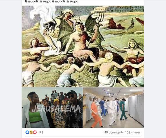 """Ekrano nuotr. iš """"Facebook""""/Dainoje įžvelgė blogio jėgų apsireiškimąą"""