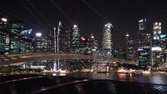 V.Mikaičio nuotr./Vakarinis Singapūras