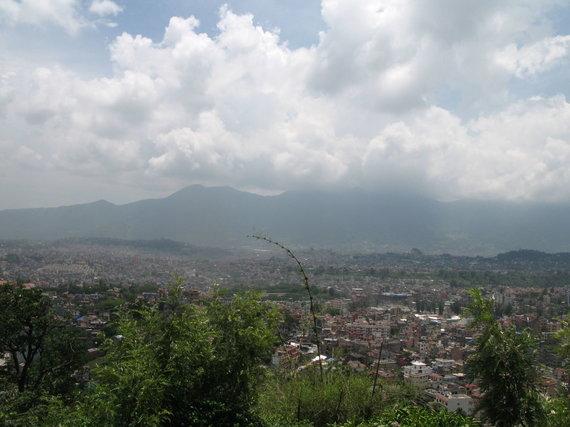 G.Juocevičiūtės nuotr./Miesto panorama nuo Beždžionių kalvos (Svajambunato)