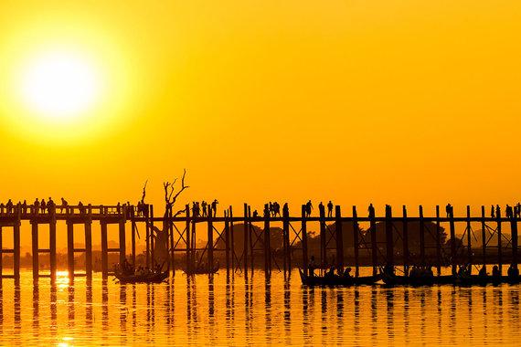 Shutterstock.com nuotr./U Bein tiltas Mianmare