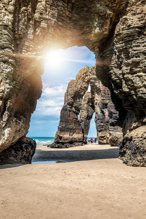 123rf.com nuotr./Katedrų paplūdimys (Playa de las Catedrales)