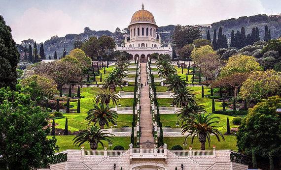 Shutterstock.com nuotr./Bahajų sodai, Izraelis