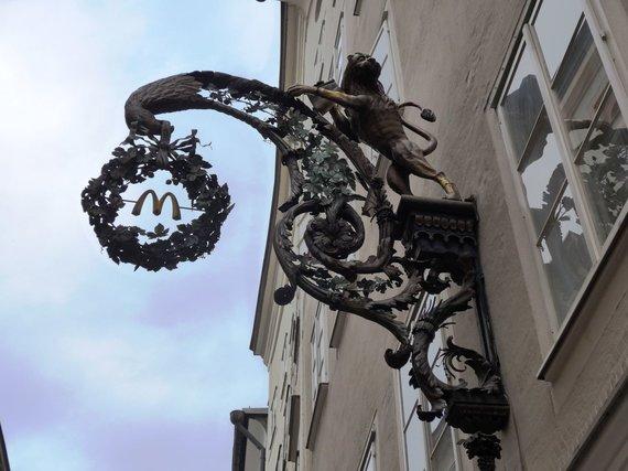 D.Loher nuotr./Getreidegasse gatvė