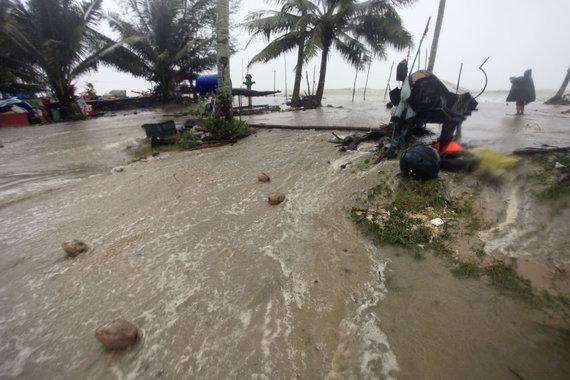 """""""Scanpix""""/AP nuotr./Prie Tailando artėja audra"""