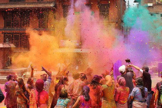 Shutterstock.com nuotr./Holi šventė, Indija