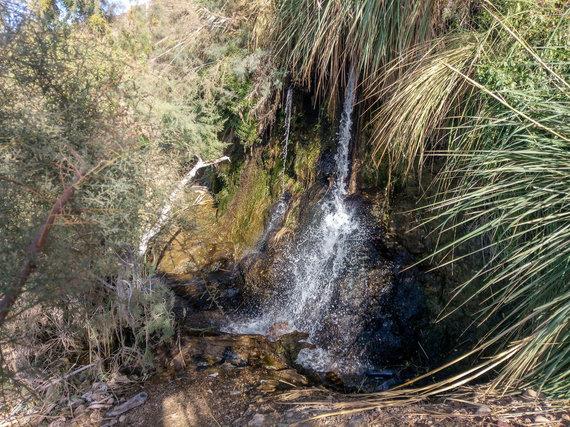 Karšto vandens krioklys prie Negyvosios jūros (nuotr. Pijaus Girdziušo)