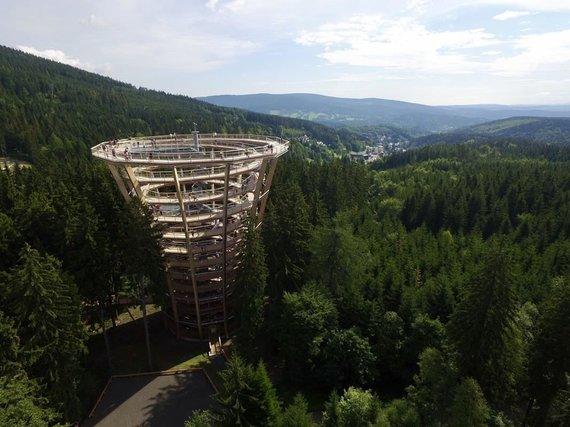 Takas medžių viršūnėmis Janské Lázně miestelyje. Fot. Petr Mareš
