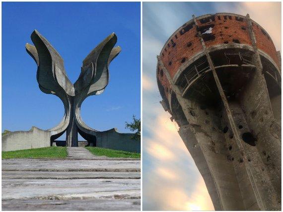 123rf.com nuotr./Slovanija: paminklas koncentracijos stovyklos aukoms ir Vukovaro vandens bokštas