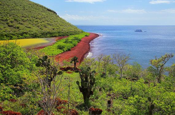 Shutterstock.com nuotr./Raudonojo smėlio paplūdimiai, Rabidos sala, Ekvadoras