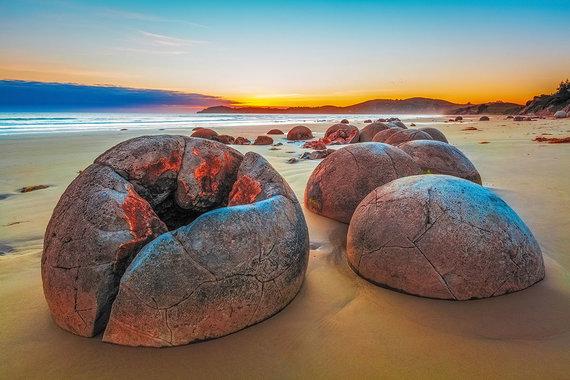 Shutterstock.com nuotr./Riedulių paplūdimys, Naujoji Zelandija