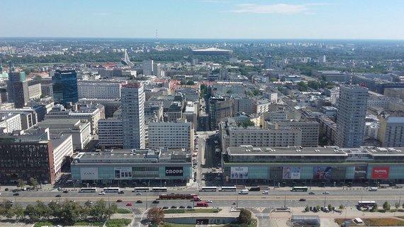 V.Mikaičio nuotr./Varšuva iš aukštai nuo stalininio dangoraižio