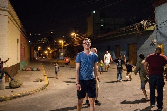 Esteban Benites nuotr./Naktis Hondūro sostinėje