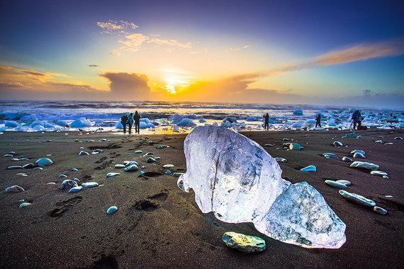 Shutterstock.com nuotr./Deimantų paplūdimys, Islandija