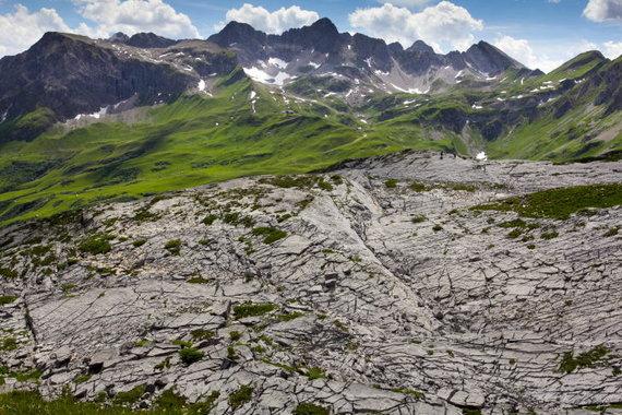 Kristinos Stalnionytės nuotr./Rufikopf kalnas, kuriame gausu fosilijų