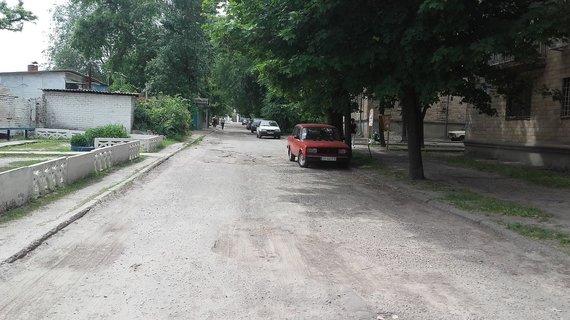 V.Mikaičio nuotr./Mūsų namų Charkove kiemas