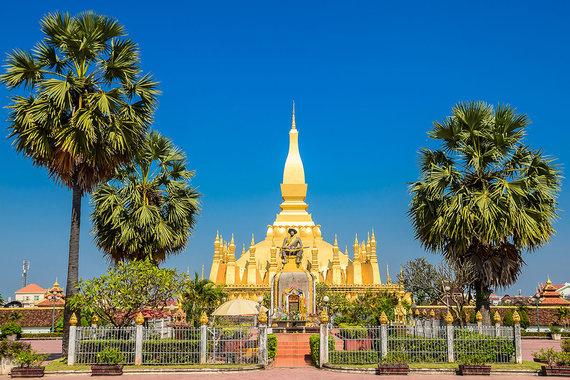Shutterstock.com nuotr./Didžioji šventoji stupa, Laosas