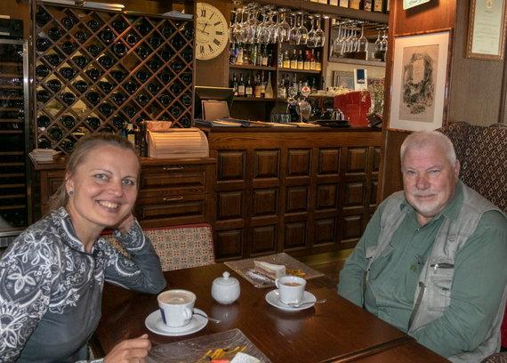Kristinos Stalnionytės nuotr./Prie kavos su Jonu Pleckevičiumi