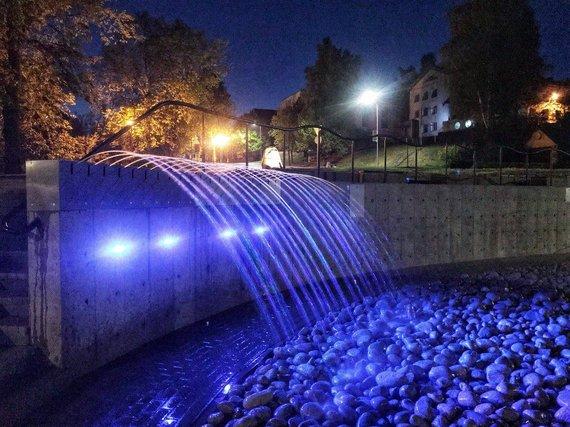 Molėtų TVIC nuotr./Molėtų fontanas
