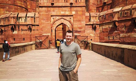 D.Barkausko nuotr./Keliautojas Donaldas Agros mieste, Indija