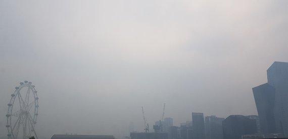 Eglės nuotr./Melburne aną savaitę tvyroję dūmai