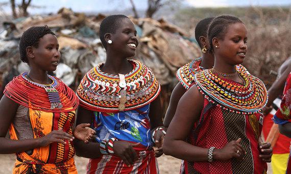 Shutterstock.com nuotr./Samburu genties moterys