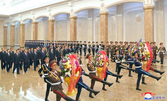 """""""Reuters""""/""""Scanpix"""" nuotr./Šiaurės Korėja koronaviruso pandemijos metu"""