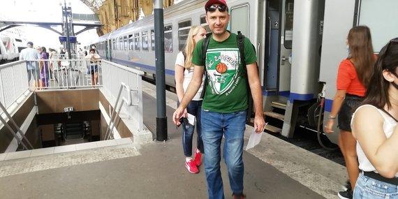 V.Mikaičio nuotr./Traukinys į Marselį Nicos stotyje