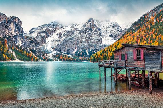 123rf.com nuotr./Braies ežeras, Italija