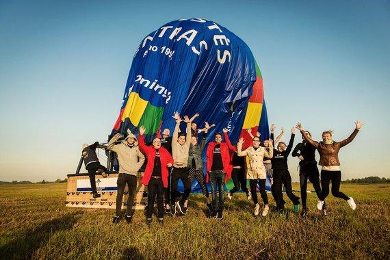 Monikos Krilavičienės nuotr./Įspūdingiausia pramoga Vilniuje darbostogų dalyviai vienbalsiai išrinko skrydžius oro balionu