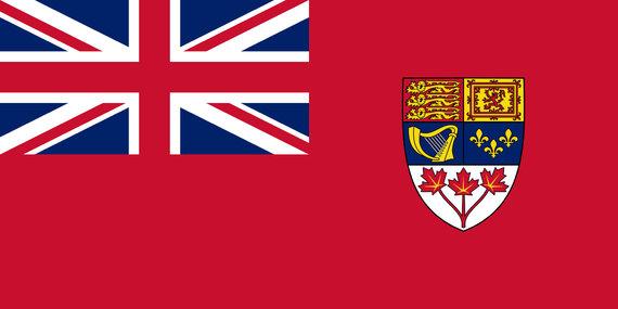 """""""Wikimedia Commons"""" nuotr./Neoficiali Kanados vėliava, naudota iki 1965 metų"""